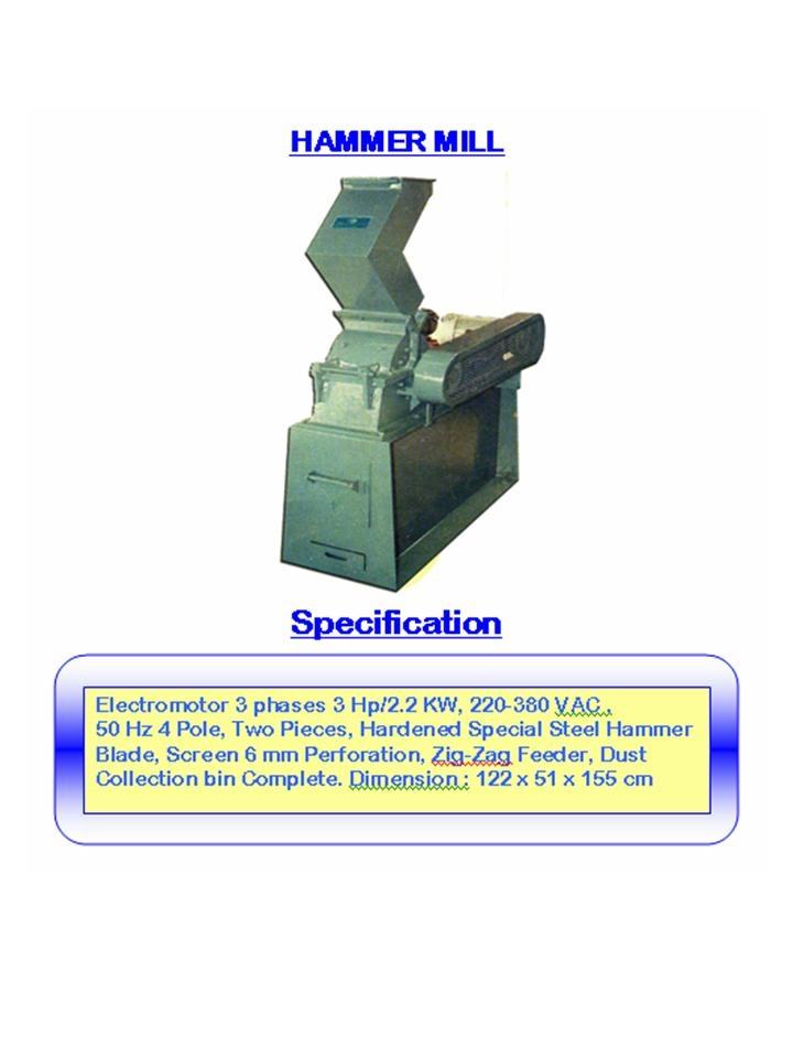Alat laboratorium teknik sipil hammer mill